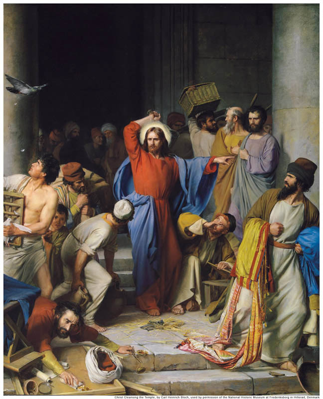 Jesus Cleanses the Temple Mormon