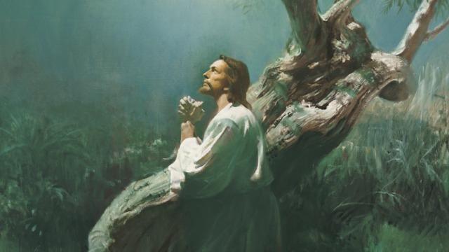 Jésus prie dans le jardin de Gethsémanie